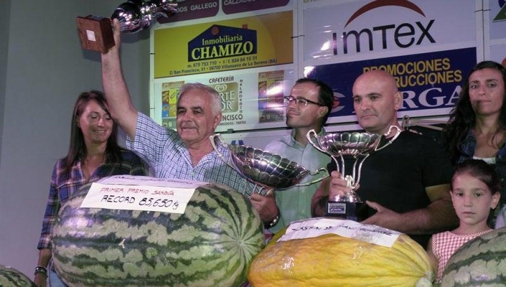 Un fruto de 85,650 kilos ha ganado el tradicional concurso de sandías y melones de Villanueva de la Serena