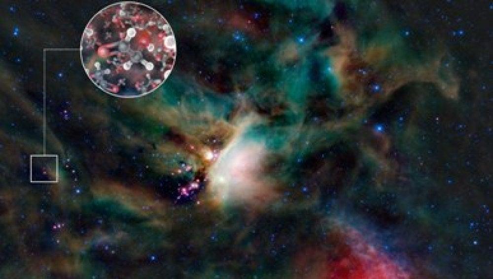 Encuentran azúcar en una estrella