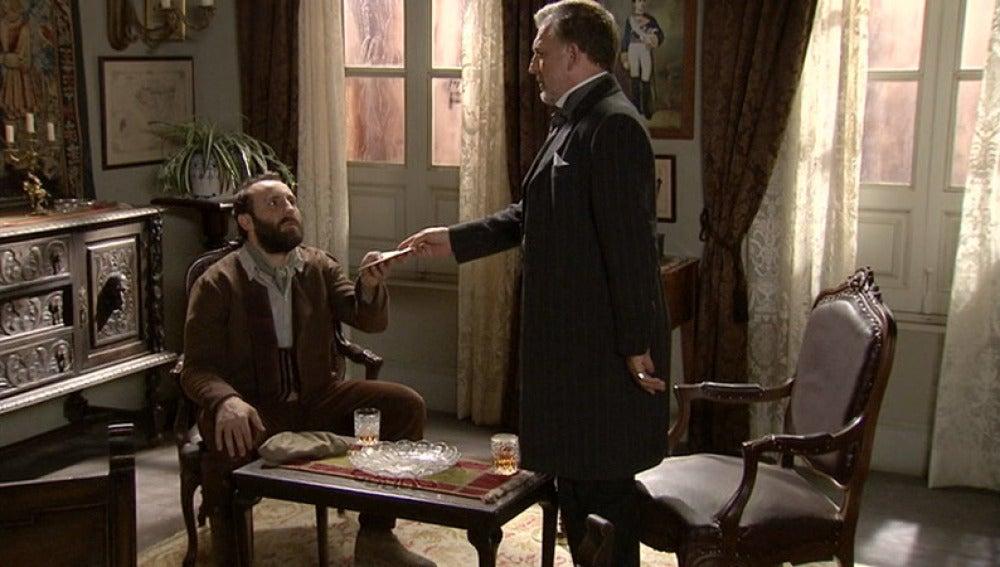 Don Eusebio cierra el trato con César