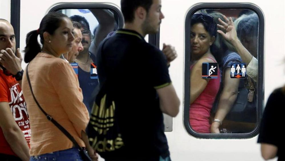 Huelga de transportes en Madrid