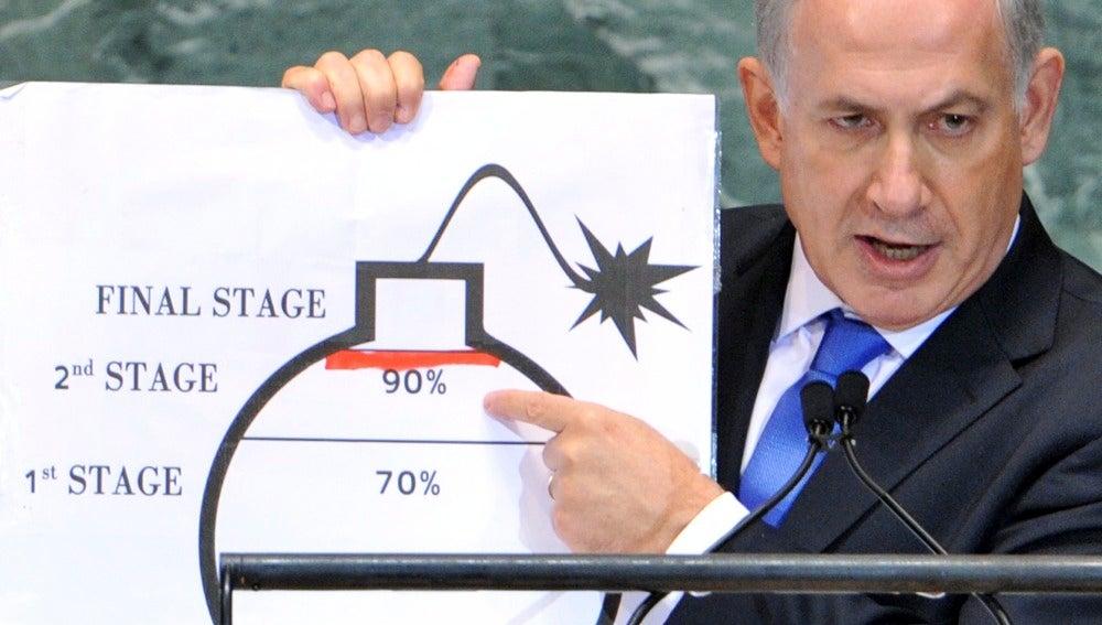 Netanyahu, en el plenario de la ONU