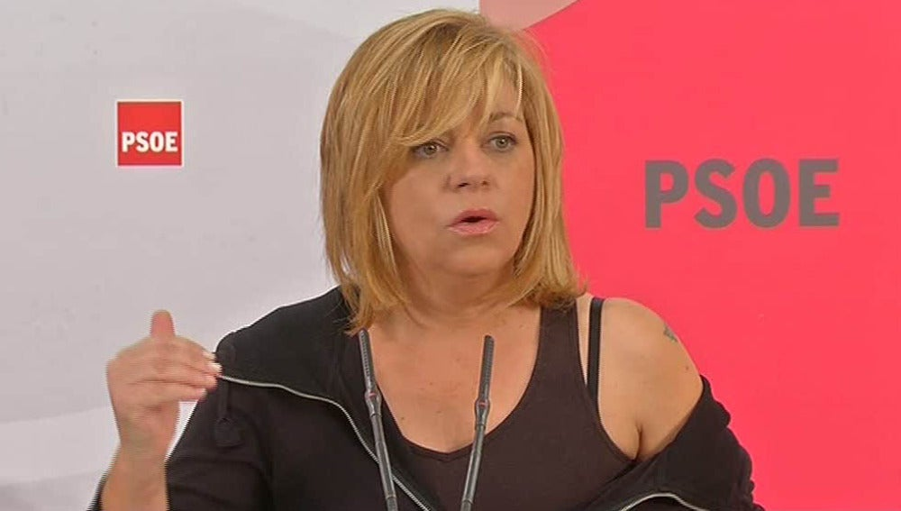 Elena Valenciano en el comité regional del PSOE