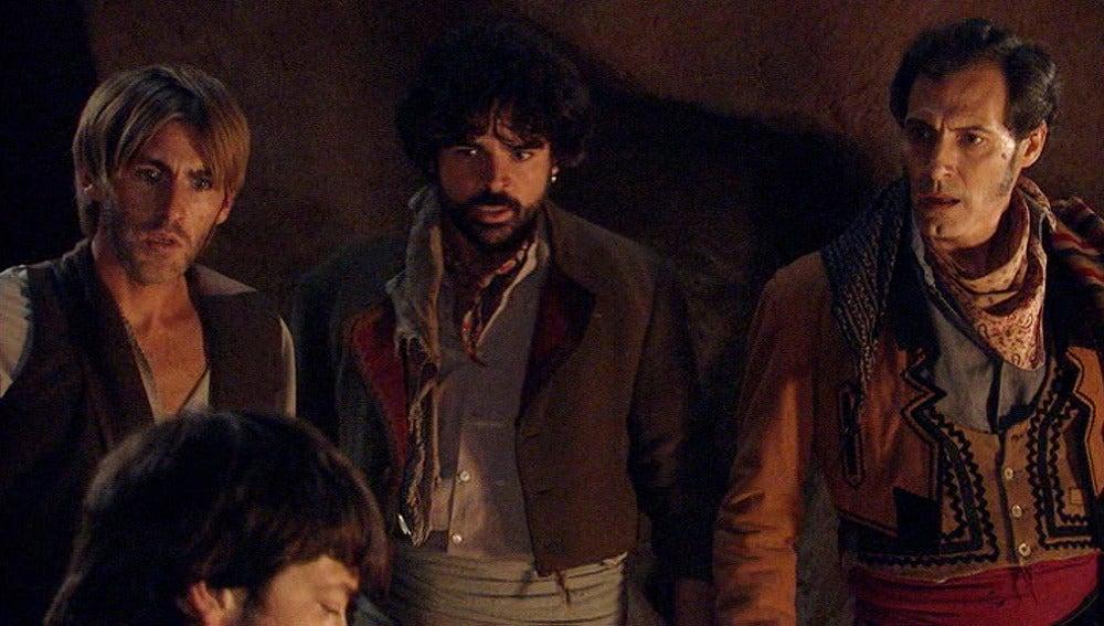 Los bandoleros se enteran del secuestro de Miguel