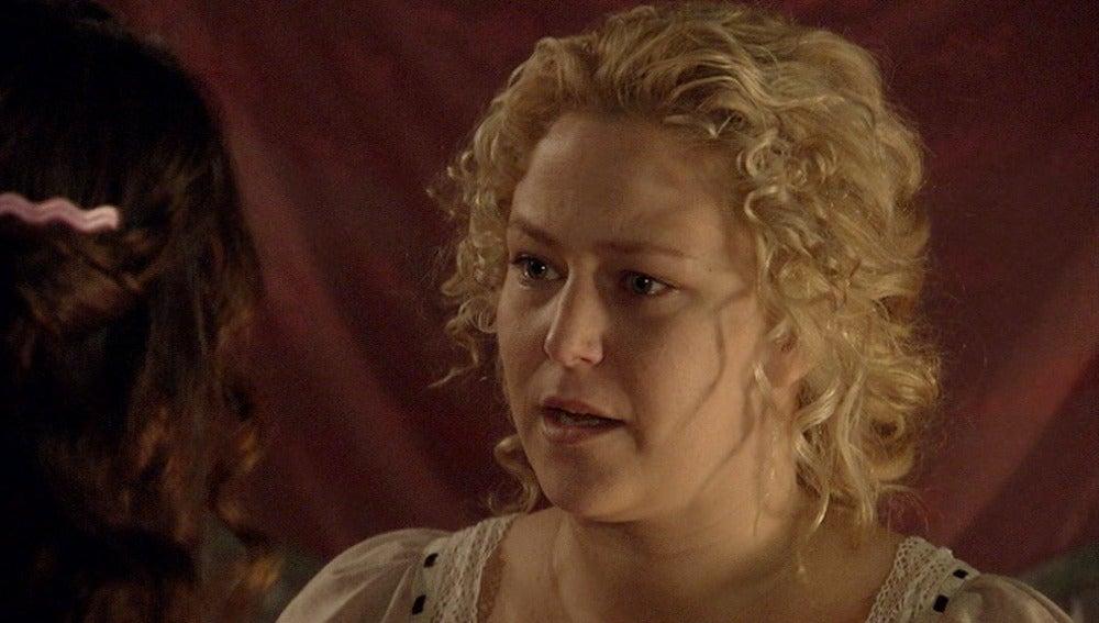 Clara confiesa a María que está embarazada