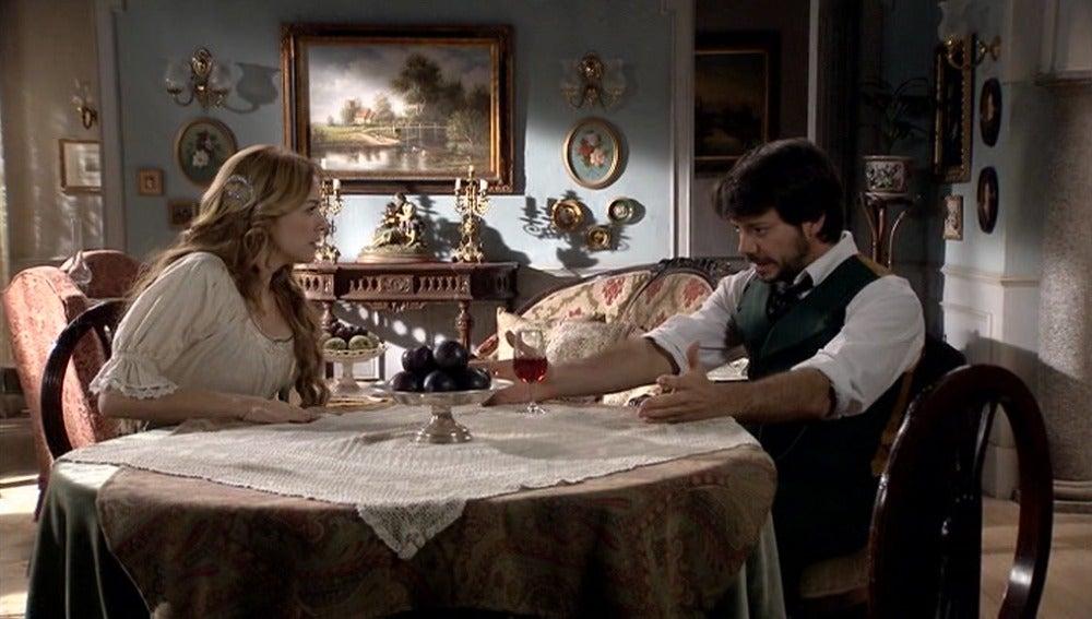 Adolfo le cuenta a Sara el plan de Bocanegra
