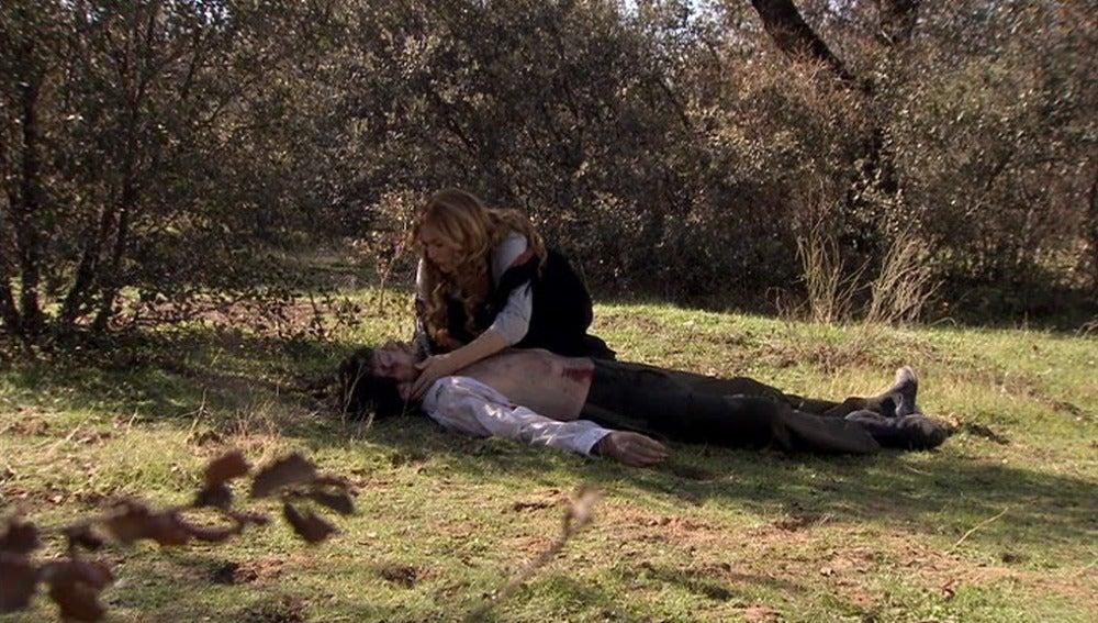 Sara encuentra el cuerpo de Adolfo