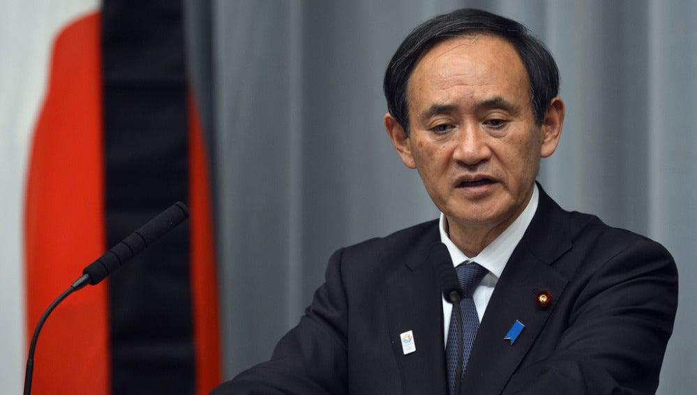 El ministro portavoz del Gobierno nipón, Yoshihide Suga