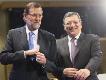 El presidente del Gobierno, Mariano Rajoy, y el presidente de la CE, José Manuel Durao Barroso