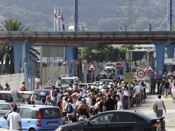 La frontera entre España y Gibraltar