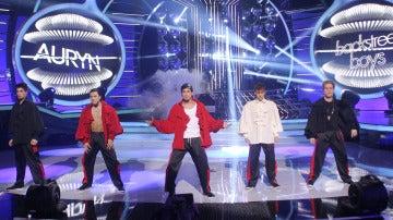 Auryn imita a Backstreet Boys en Tu cara me suena