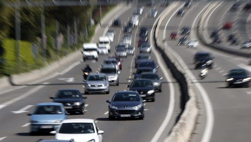 Atasco en la A6 dirección La Coruña.