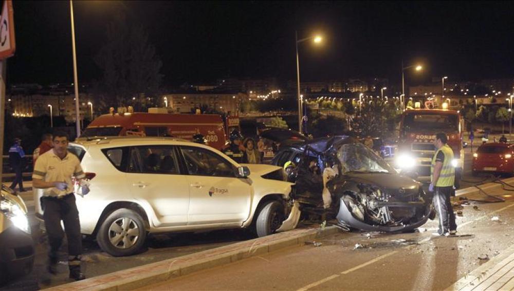 Accidente de tráfico en las carreteras españolas