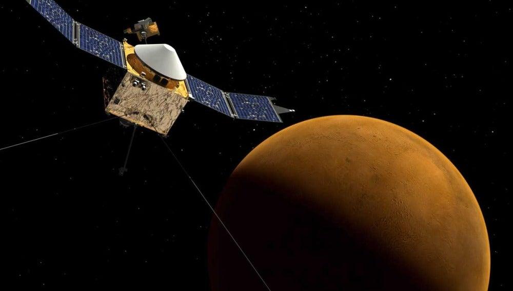La sonda Maven alcanza la órbita de Marte