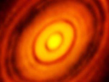 Disco planetario captado por ALMA