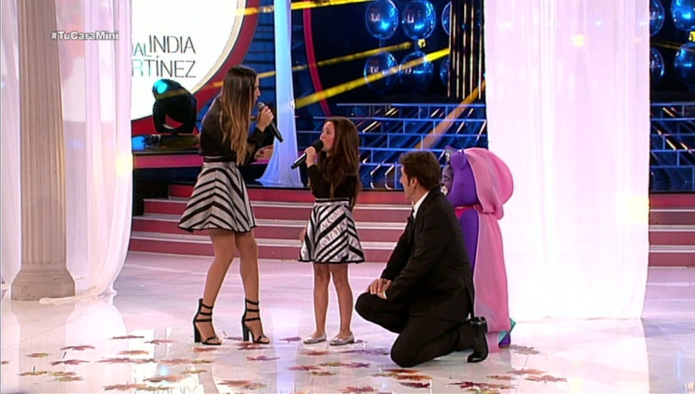 India Martínez sorprende a Nayra en Tu cara me suena Mini