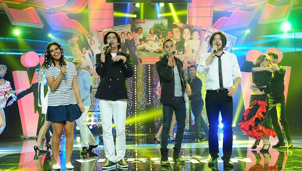 Julio José Iglesias, Cristina Pedroche, Arturo Valls y Manel Fuentes en 'Los viernes al Show'