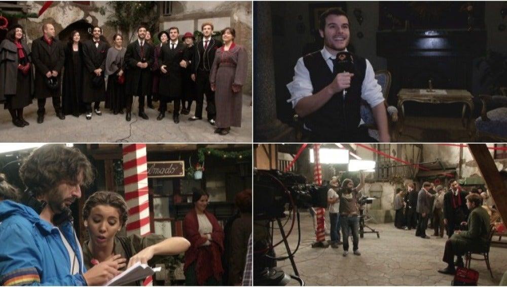 Pasamos un día de rodaje con el grupo vocal DeuDeVeu en El secreto de Puente Viejo