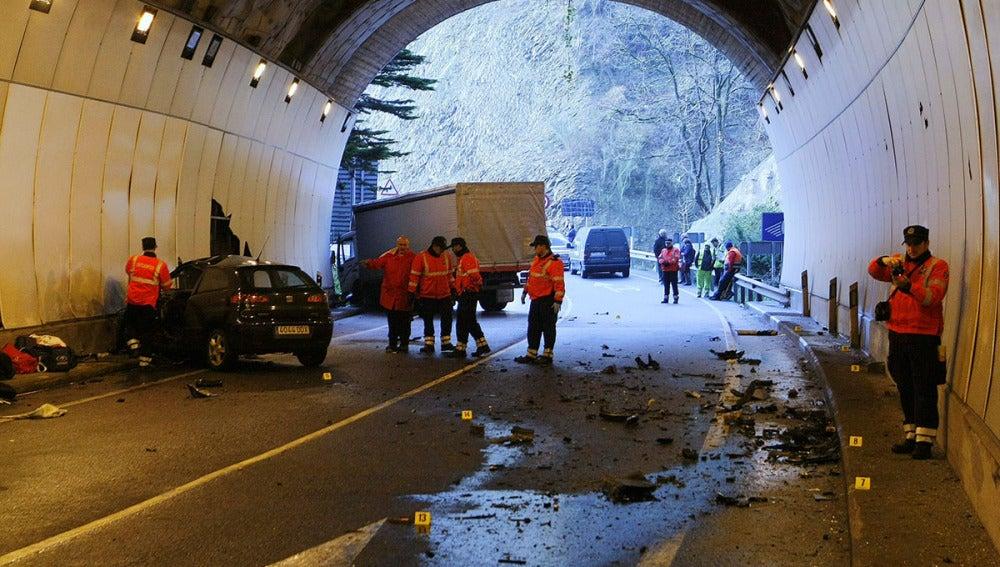 Accidente en la carretera nacional N-634, a la altura de Eibar