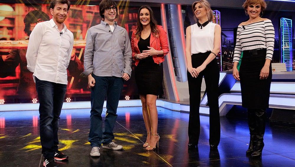 Luis Piedrahita, Mónica Carrillo, Sandra Golpe y Lourds Maldonado en El Hormiguero 3.0