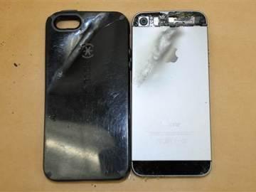 El teléfono móvil que actuó de antibalas.
