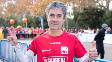 Martín Fiz, durante la carrera 'Ponle Freno'