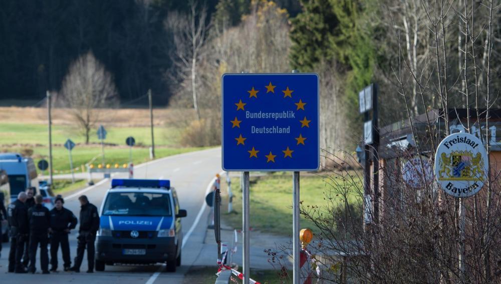 Frontera de Alemania con Austria