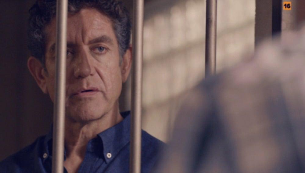 Juan Rueda en los calabozos