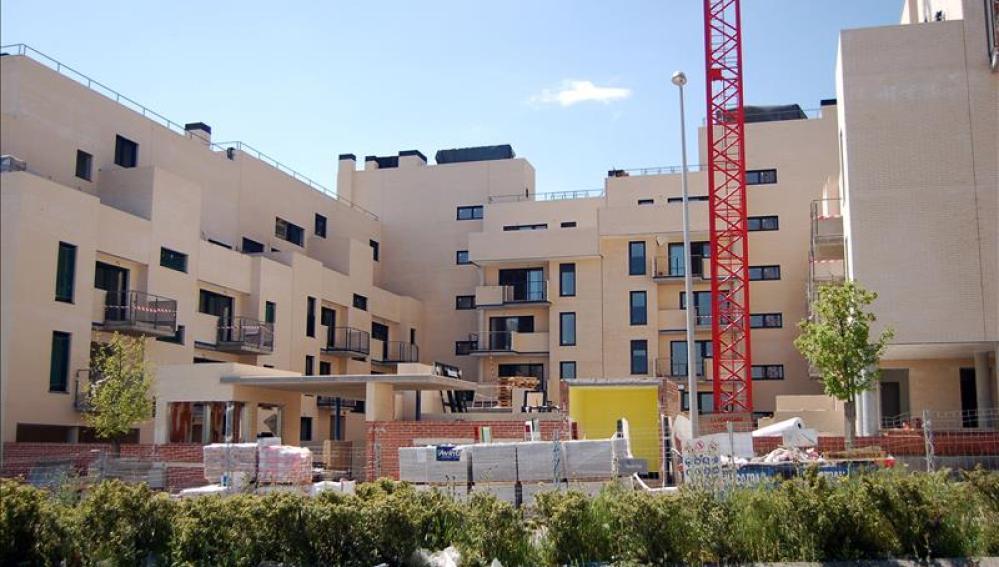 Viviendas en construcción en Valdebebas (Madrid)