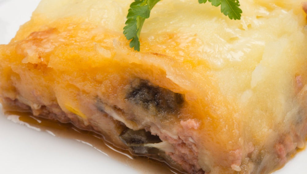 Pastel de carne, berenjena y patata