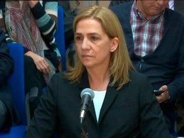 Declaración de la Infanta Cristina