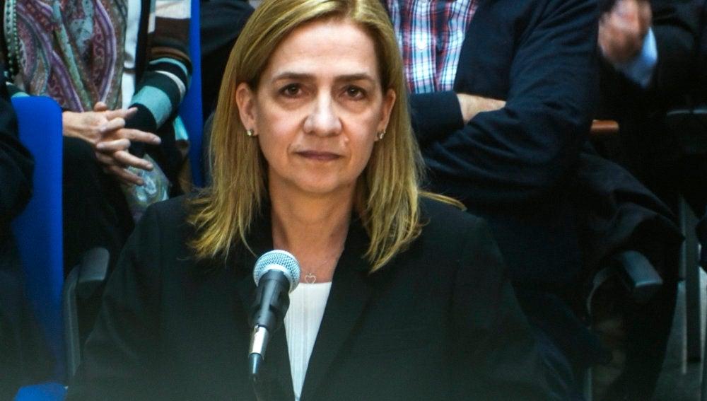 La Infanta Cristina durante su declaración