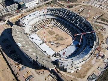 El nuevo estadio de La Peineta, desde arriba