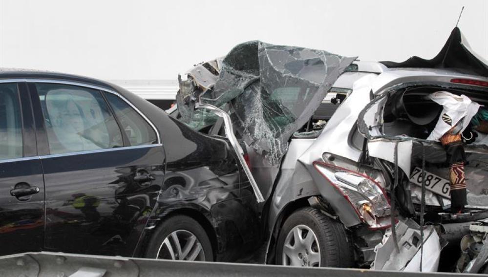 Accidente en la Autovía de la Plata (A-66), en Vallejera de Riofrío (Salamanca)