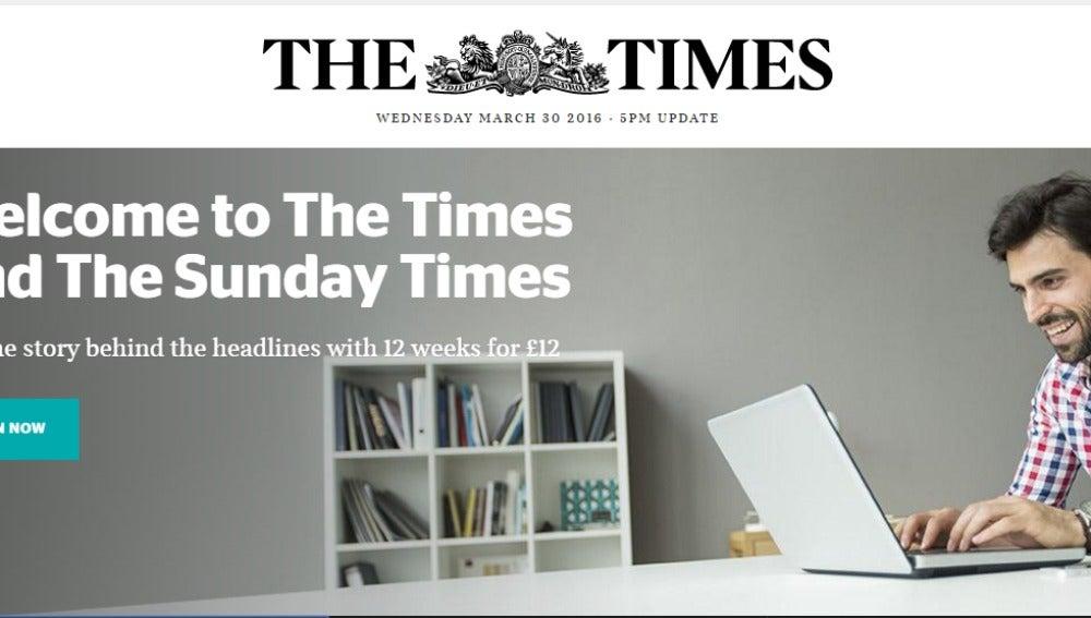 Portada del diario The Times