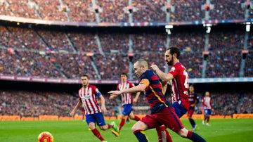 Partido entre el Barcelona y Atlético de Madrid