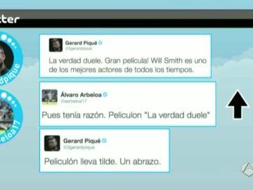 Pique en Twitter entre Arbeloa y PIqué