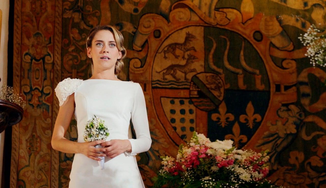 Carmen vestida de boda