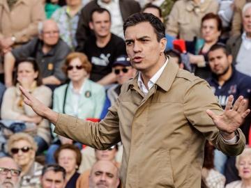 El candidato a la Presidencia del Gobierno por el PSOE, Pedro Sánchez.