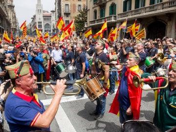 Manifestación convocada por la Hermandad de Caballeros Legionarios de Barcelona