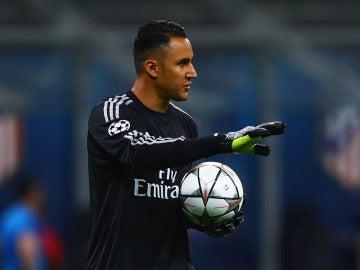 Keylor Navas durante la final de Champions con el Real Madrid