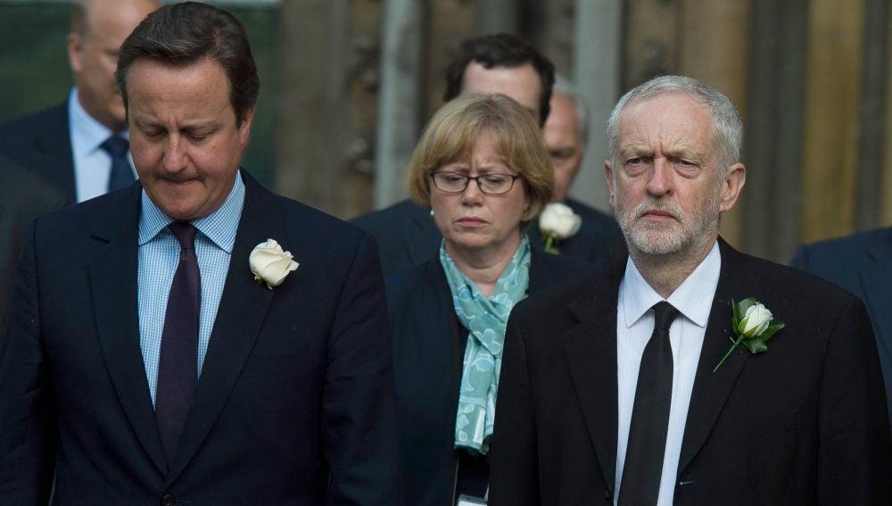 David Cameron y Jeremy Corbyn