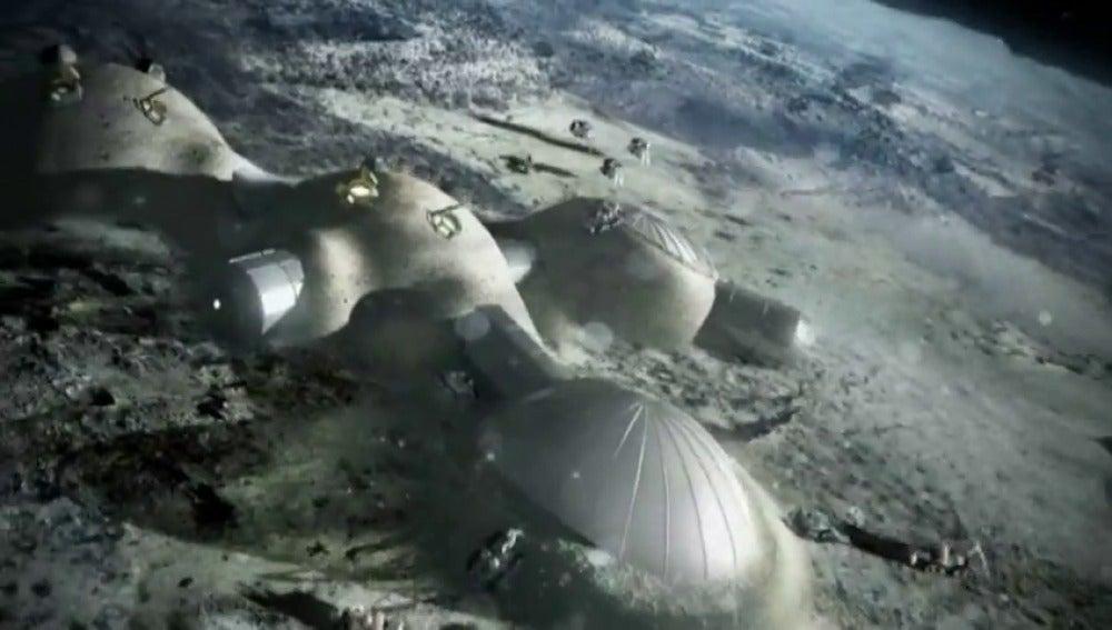 Frame 12.749916 de: Las impresoras 3D ya fabrican hasta casas espaciales