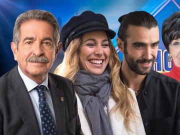 Miguel Ángel Revilla, Blanca Suárez y Aitor Luna y Concha Velasco en 'El Hormiguero 3.0'