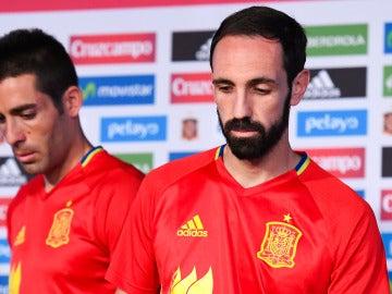 Junafran y Bruno, jugadores de la Selección
