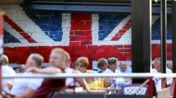 Ciudadanos británicos en lugar de ocio de la costa levantina