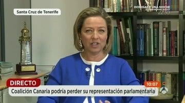 """Ana Oramas: """"Jamás un voto de Coalición Canaria servirá para apoyar un Gobierno de Podemos"""""""