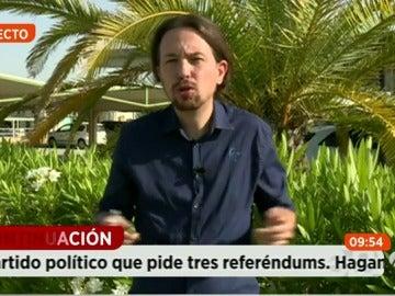 """Pablo Iglesias: """"Vamos a apoyar la permanencia en la UE pero en otros términos"""""""