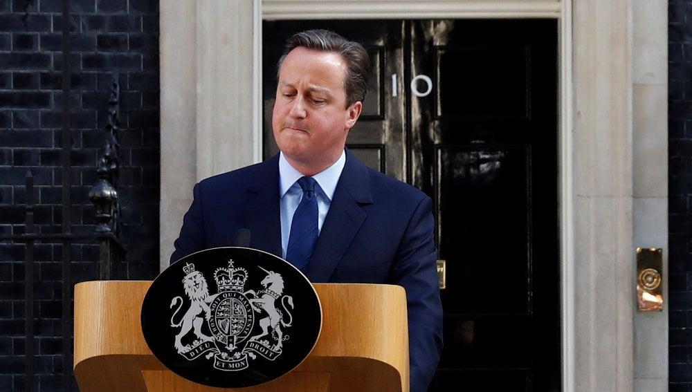 David Cameron, durante la comparecencia en la que ha anunciado su dimisión