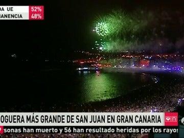 Playas, plazas y calles de toda España se han llenado de hogueras para dar la bienvenida al verano en la noche de San Juan