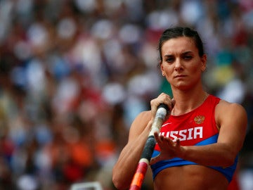 La saltadaora de pértiga rusa, Yelena Isinbáyeva